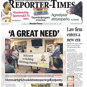 Front page of Martinsville newspaper | Reporter-Times article about Foley Peden & Wisco, P.A.